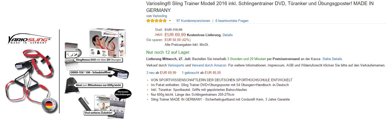 Variosling Sling Trainer kaufen bei amazon