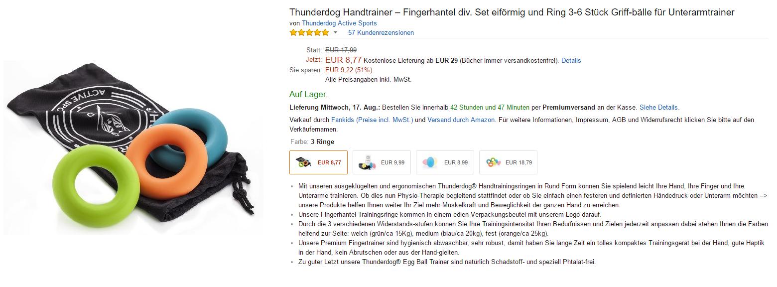Thunderdog Hand Trainer kaufen bei amazon