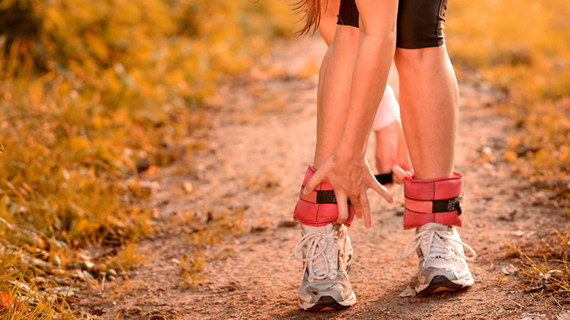 Gewichtsmannschette für mehr Intensität bei vielen Fitnessübungen