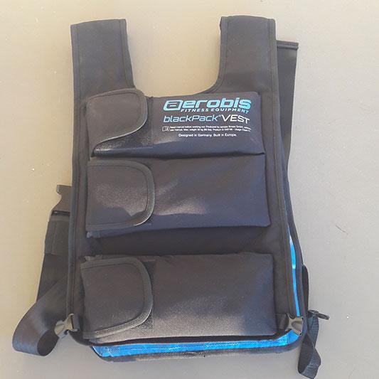 Gewichtsweste blackpack VEST von aerobis