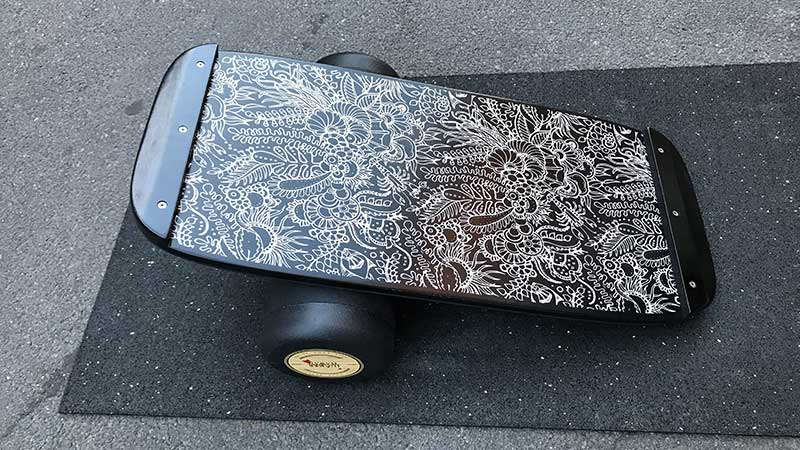 Stopper an den Enden des Balance Boards von Jucker Hawaii