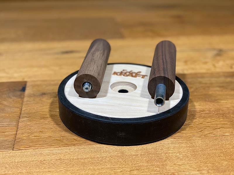 Edelkraft Bauchroller aus Holz verfügt über stabile Schraubverbindung