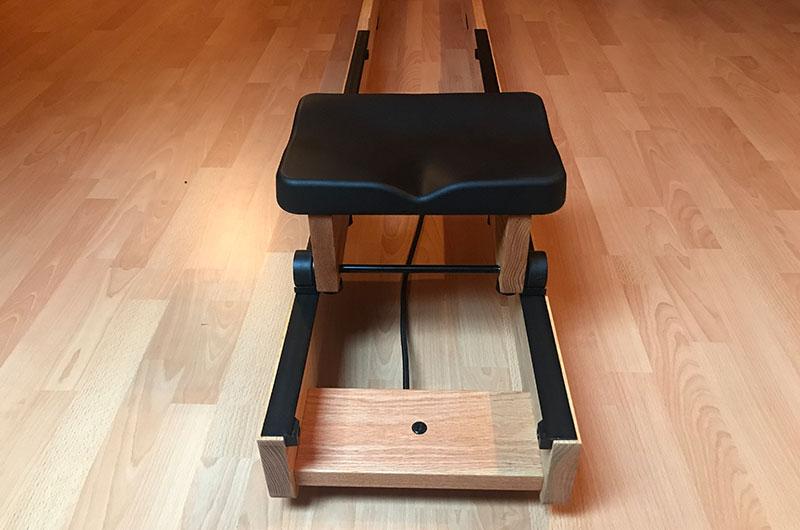 Schlitten und Sitz einsetzen - Aufbau waterrower
