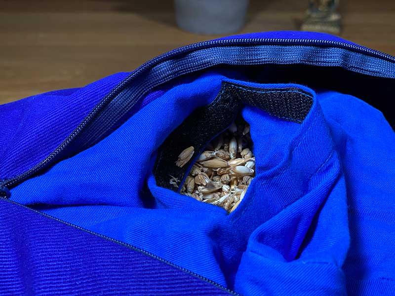 Yogakissen Füllung aus Bio Dinkelspelzen Getreidespelzen