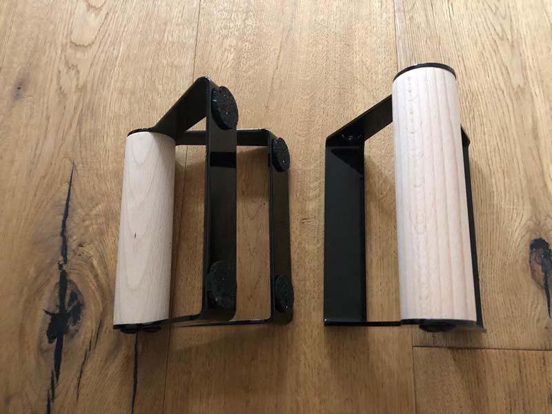 PullUp&Dip Liegestützgriffe mit rundem Griff verfügen auch über rutschfeste Standfläche
