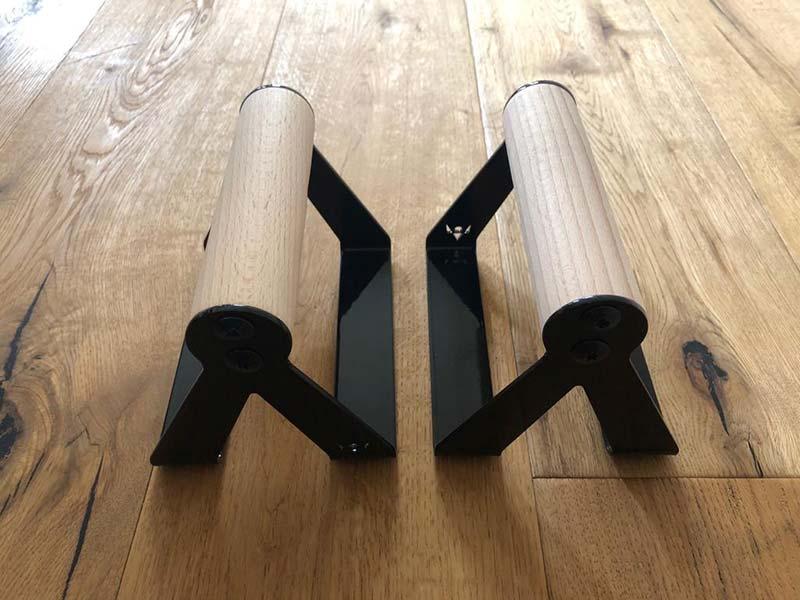 PullUp&Dip Liegestützgriffe mit rundem Griffstück