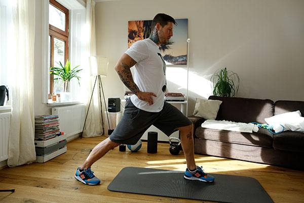 Waden Stretching Übung